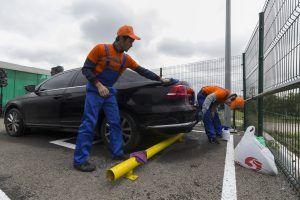 Обновление плоскостной парковки у «Трубной» завершилось. Фото: «Вечерняя Москва»
