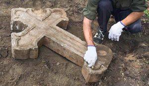 Возле руин храма Скорбященского монастыря установят поклонный крест. Фото: официальный сайт мэра Москвы