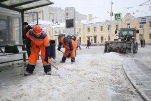 Работы по уборке снега выполнили специалисты на территории района. Фото: Антон Гердо, «Вечерняя Москва»