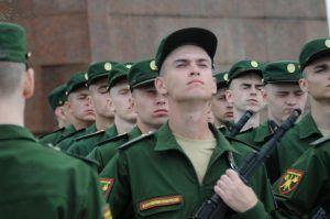 Почти 500 новобранцев Семеновского стрелкового полка приняли присягу. Фото: Светлана Колоскова, «Вечерняя Москва»