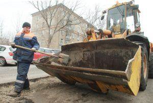 Ямочный ремонт выполнили по семи адресам района. Фото: Наталия Нечаева, «Вечерняя Москва»