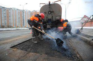 Ямочный ремонт дороги провели в районе. Фото: Светлана Колоскова, «Вечерняя Москва»