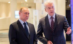 Президент Российской Федерации Владимир Путин и мэр Москвы Сергей Собянин
