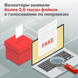 Волонтеры Общественной палаты уже выявили около 2,5 тысячи фейков о голосовании