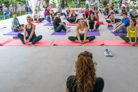 Проект «Фитнес в парках» стартует в саду «Эрмитаж». Фото: сайт мэра Москвы