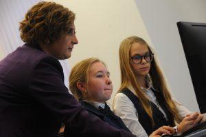 Ребята из школы №1540 приняли участие в соревнованиях по математике. Фото: Александр Кожохин, «Вечерняя Москва»