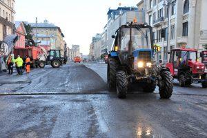 Ямочный ремонт дорожного полотна провели в районе. Фото: Пелагия Замятина, «Вечерняя Москва»