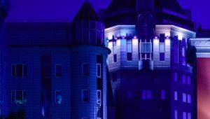 Здания в районе подсветят в синий цвет. Фото: сайт мэра Москвы