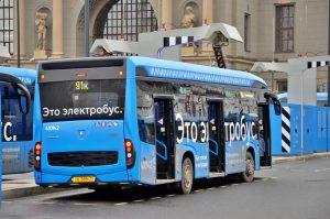 Новый ночной маршрут электробуса запустили в районе. Фото: Анна Быкова